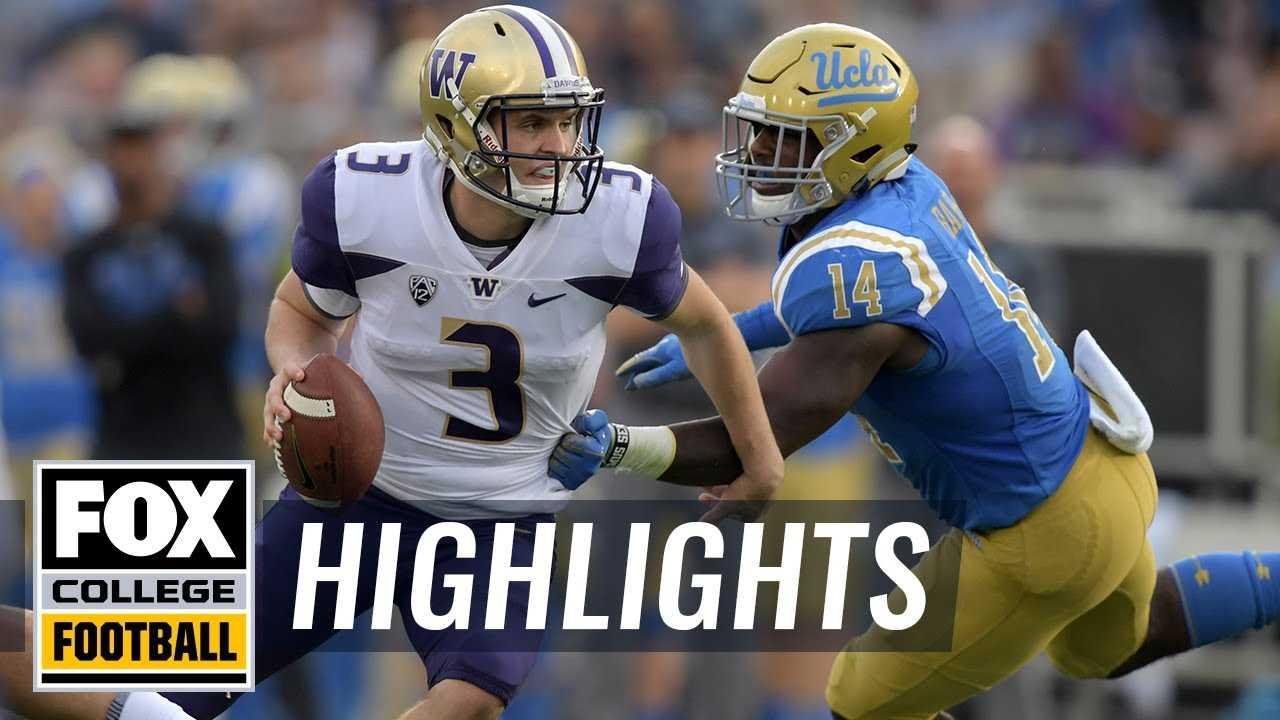 Washington vs. UCLA   FOX COLLEGE FOOTBALL HIGHLIGHTS