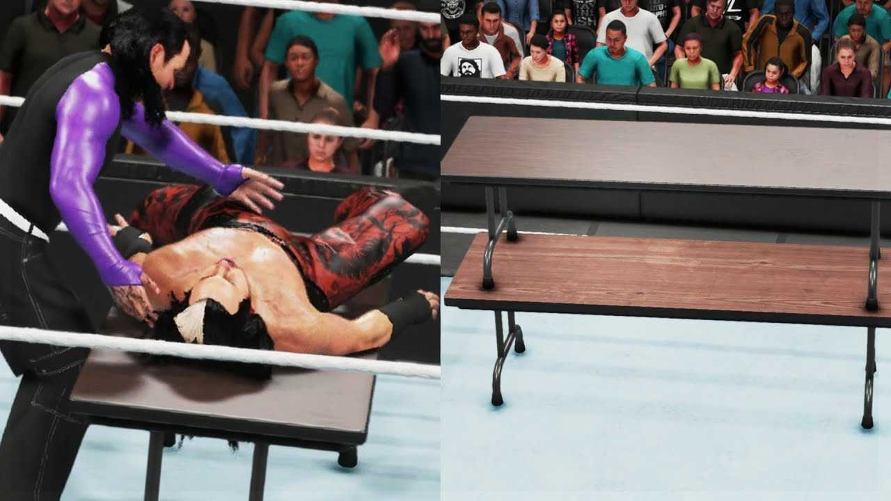 WWE 2K19 Tutorial - How To Lay Your Opponent On A Table & How To Stack 2 Tables | PS4/XB1