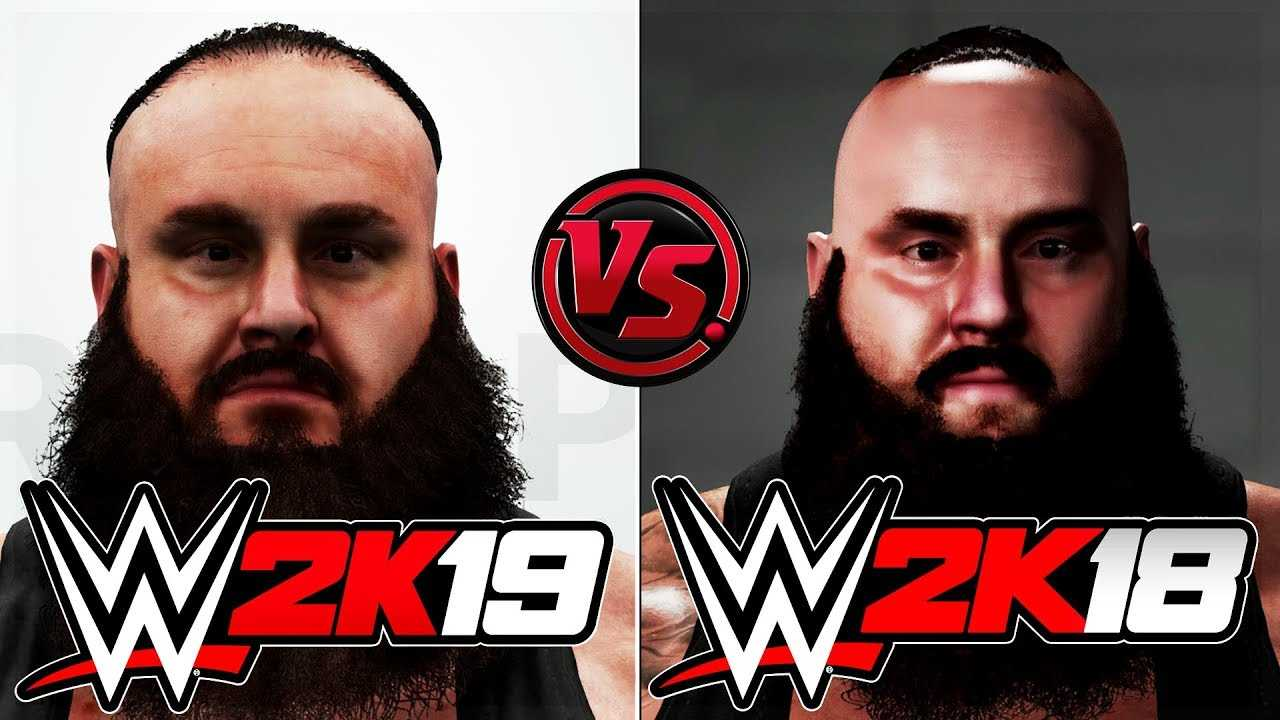WWE 2K19 vs WWE 2K18 Official Face/Graphics/Ratings Comparison