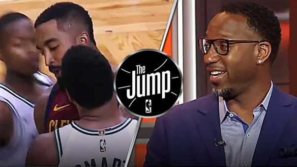 McGrady Laughs At No Cavs Players Coming To Rescue J.R. Smith From Marcus Smart | The Jump