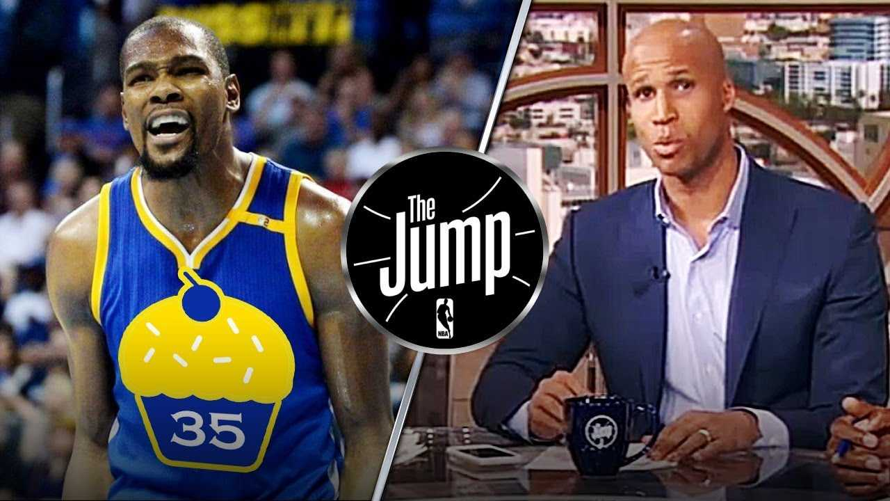 """Richard Jefferson Calls Kevin Durant Soft: """"He is tough because Draymond got his back""""   The Jump"""