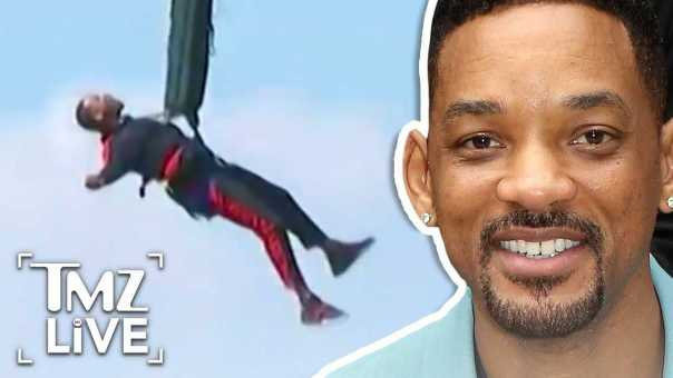 Will Smith: Insane Bungee Jumping! | TMZ Live