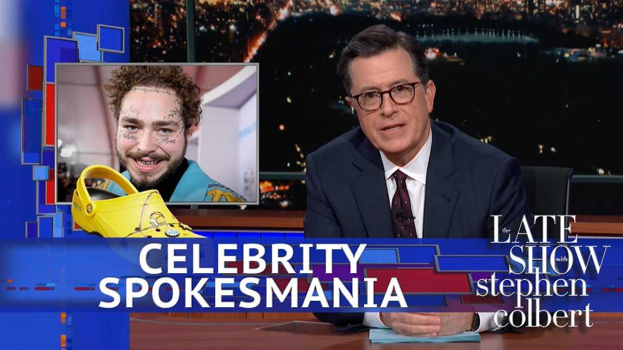 Late Show's Celebrity Spokesmania: Post Malone's Crocs