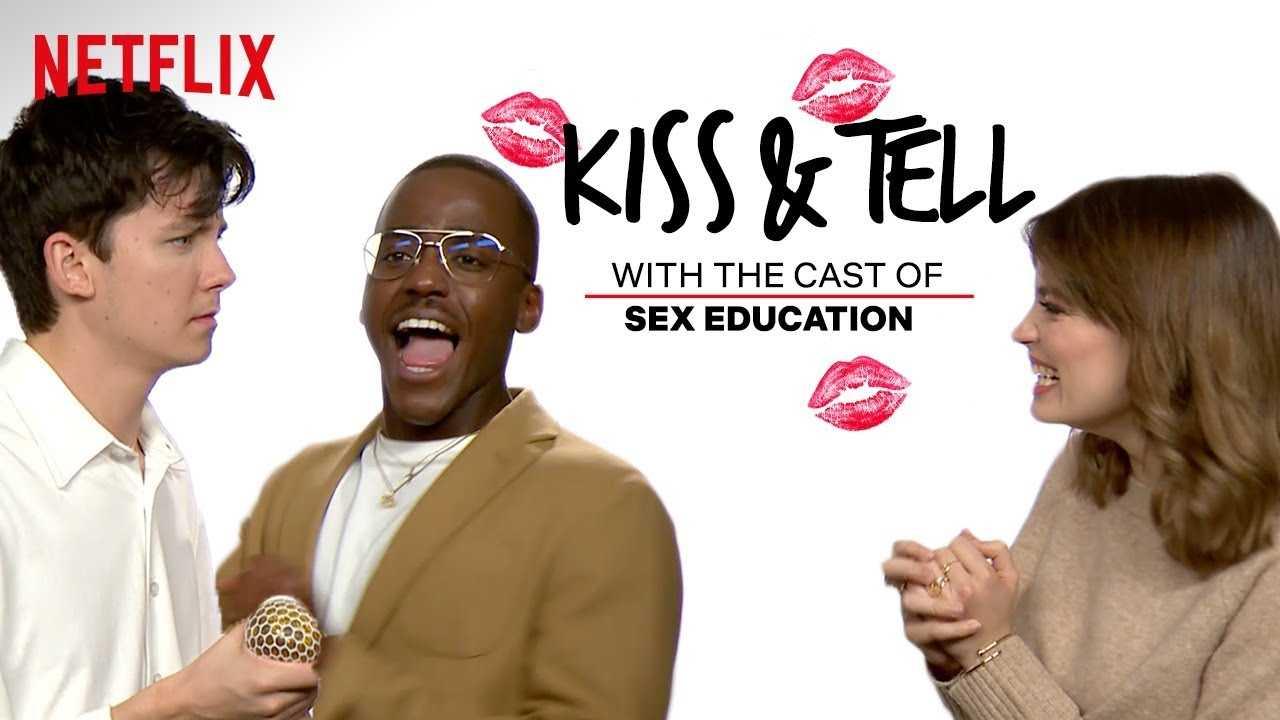 Sex Education Cast Take the Blindfolded Kissing Challenge   Kiss & Tell   Netflix