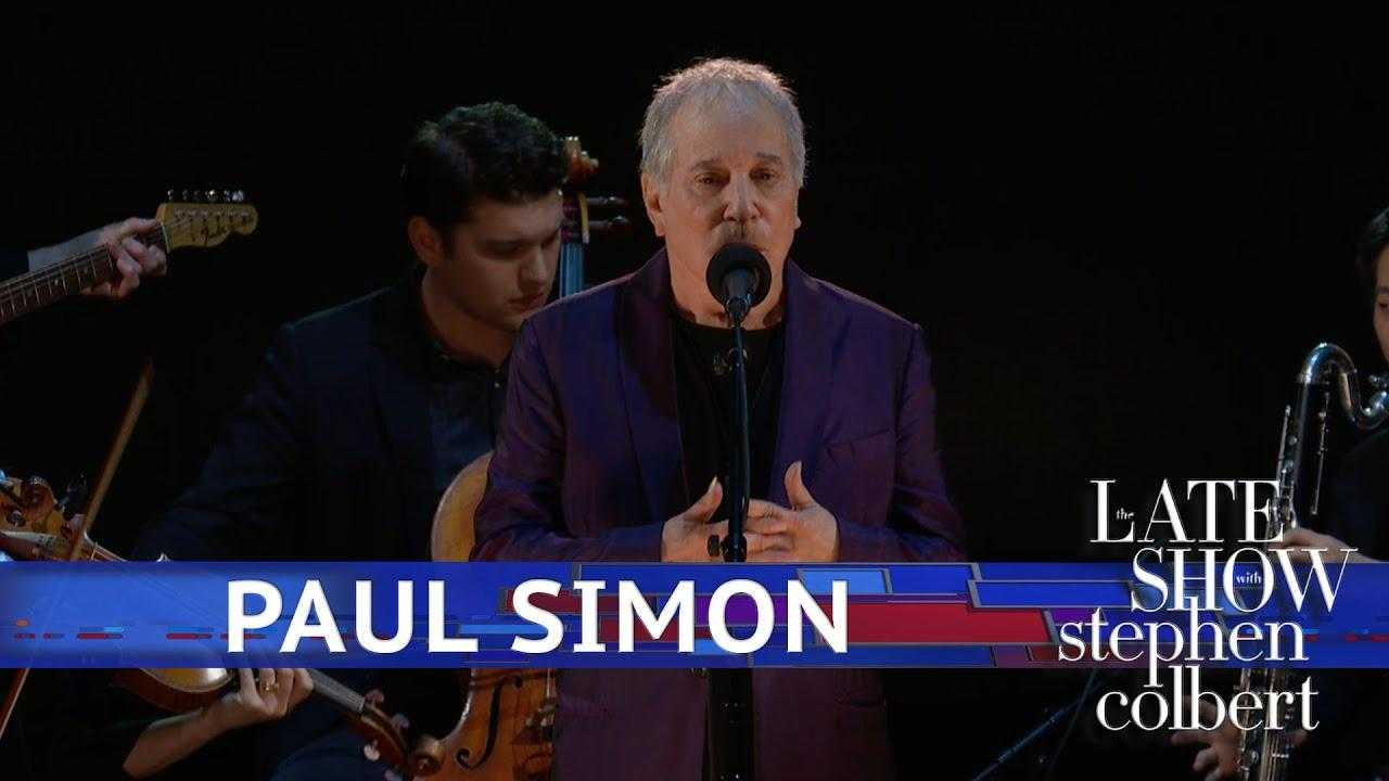 Paul Simon Performs 'Rene & Georgette Magritte With Their Dog After The War'