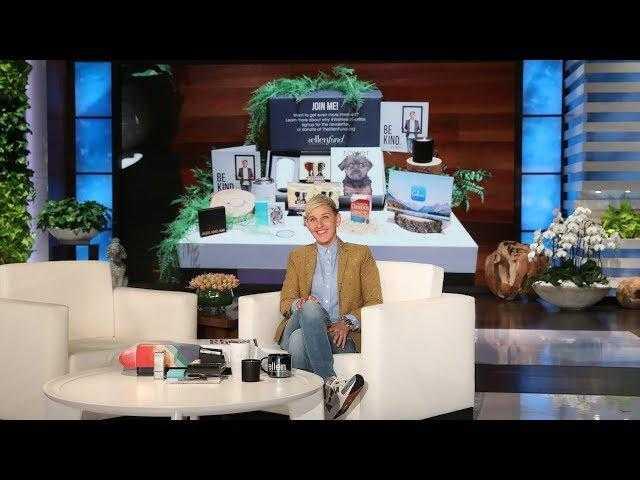 Ellen Unveils the Newest BE KIND. by ellen Box!