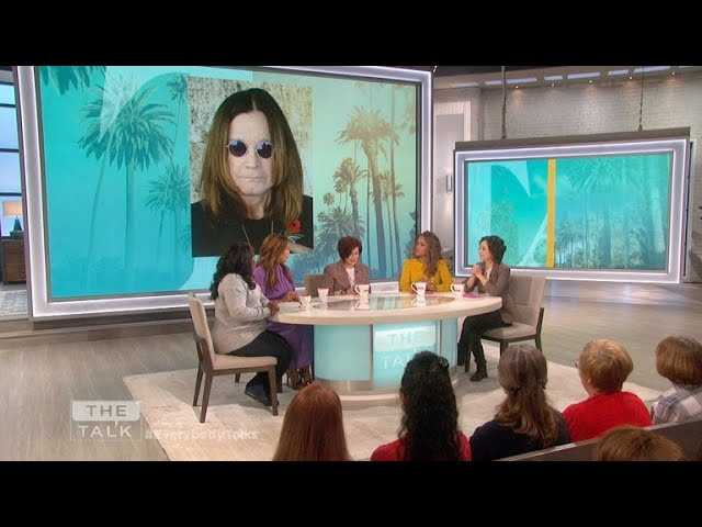 The Talk - Sharon Osbourne Reports Ozzy's 'out of ICU' and 'breathing on his own'
