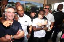 COACHELLA, CALIFORNIA - APRIL 14: Avery Lipman, Wack 100, Brian Baby Williams, Jacquees and Monty Lipman attend Republic Records Celebrates Their Class Of 2019 In Coachella Valley at Zenyara on April 14, 2019 in Coachella, California. (Photo by Randy Shropshire/Getty Images for Republic Records)