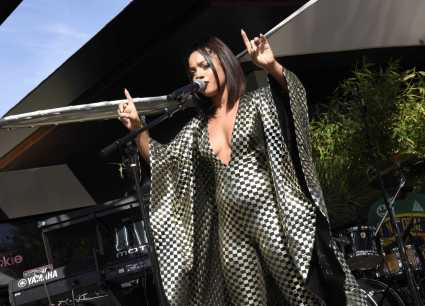 COACHELLA, CALIFORNIA - APRIL 14: Kiana Ledé performs onstage at Republic Records Celebrates Their Class Of 2019 In Coachella Valley at Zenyara on April 14, 2019 in Coachella, California. (Photo by Vivien Killilea/Getty Images for Republic Records)