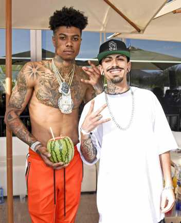COACHELLA, CALIFORNIA - APRIL 14: Blueface (L) and Boyboy WestCoast attends Republic Records Celebrates Their Class Of 2019 In Coachella Valley at Zenyara on April 14, 2019 in Coachella, California. (Photo by Vivien Killilea/Getty Images for Republic Records)