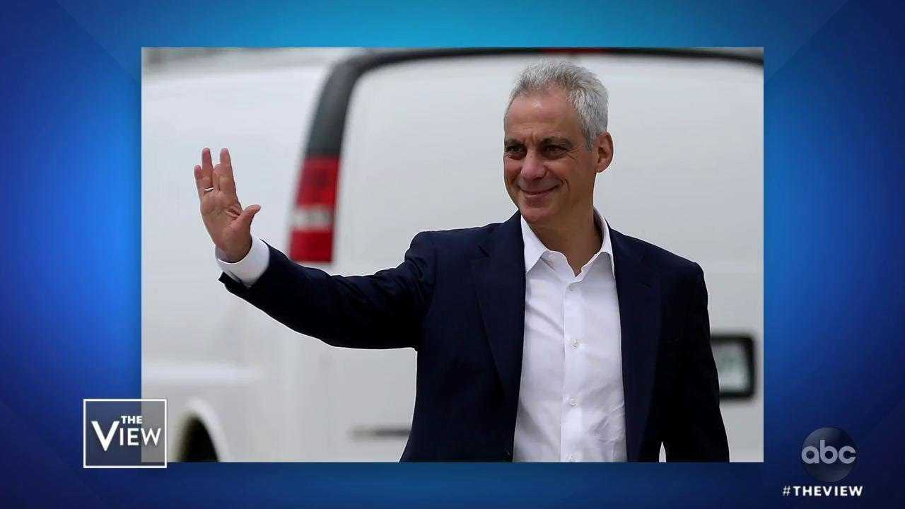 """Rahm Emanuel Urges Dems: """"Consider Swing Voters""""   The View"""