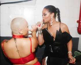 Singer Rihanna Shares Photos from her #savagexfenty show #NYFW [Photos]