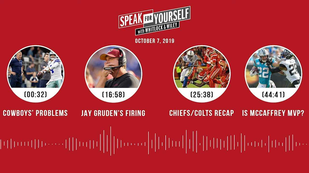 SPEAK FOR YOURSELF Audio Podcast (10.7.19) with Marcellus Wiley, Jason Whitlock   SPEAK FOR YOURSELF