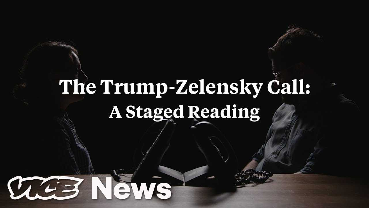 Trump's Phone Call With Ukraine President Zelensky: A Staged Reading