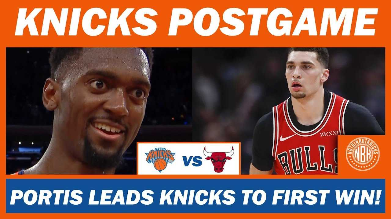 New York Knicks get first win over Chicago Bulls | Bobby Portis Leads team with 28 points