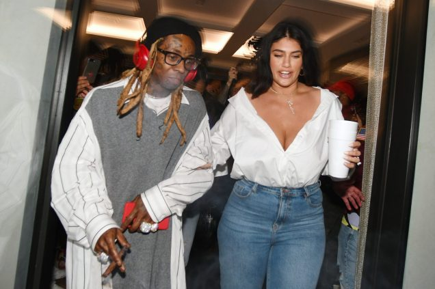 """MIAMI, FLORIDA - FEBRUARY 01: Lil Wayne and La'Tecia Thomas attend Lil Wayne's """"Funeral"""" album release party on February 01, 2020 in Miami, Florida (Photo by Gerardo Mora/Getty Images for Young Money/Republic Records)"""