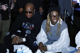 """MIAMI, FLORIDA - FEBRUARY 01: Mack Maine and Lil Wayne attends Lil Wayne's """"Funeral"""" album release party on February 01, 2020 in Miami, Florida (Photo by Jeff Schear/Getty Images for Young Money/Republic Records)"""
