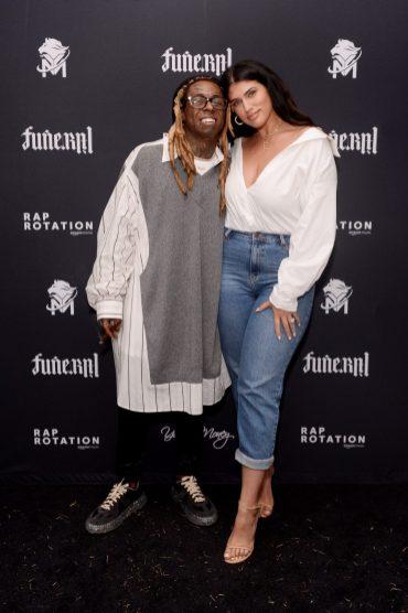 "MIAMI, FLORIDA - FEBRUARY 01: Lil Wayne and La'Tecia Thomas attend Lil Wayne's ""Funeral"" album release party on February 01, 2020 in Miami, Florida (Photo by Daniel Boczarski/Getty Images for Young Money/Republic Records)"