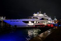 "MIAMI, FLORIDA - FEBRUARY 01: A view of a yacht during Lil Wayne's ""Funeral"" album release party on February 01, 2020 in Miami, Florida. (Photo by Daniel Boczarski/Getty Images for Young Money/Republic Records)"