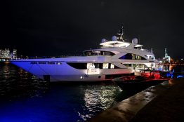 """MIAMI, FLORIDA - FEBRUARY 01: A view of a yacht during Lil Wayne's """"Funeral"""" album release party on February 01, 2020 in Miami, Florida. (Photo by Daniel Boczarski/Getty Images for Young Money/Republic Records)"""