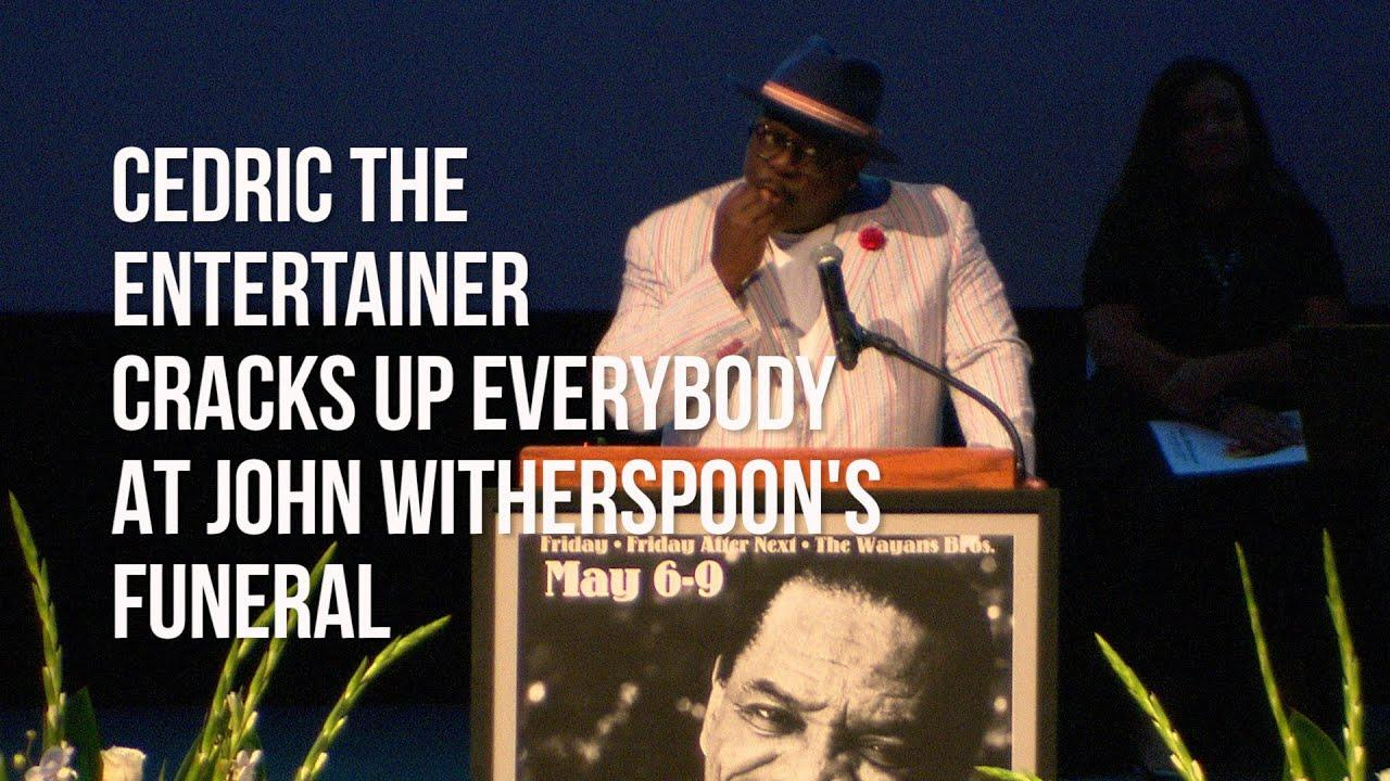Cedric The Entertainer Cracks Up Everybody At John Witherspoon's Funeral
