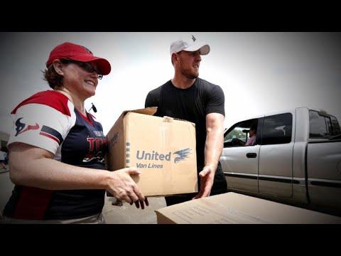J.J. Watt and the Houston Texans help #HurricaneHarvey victims
