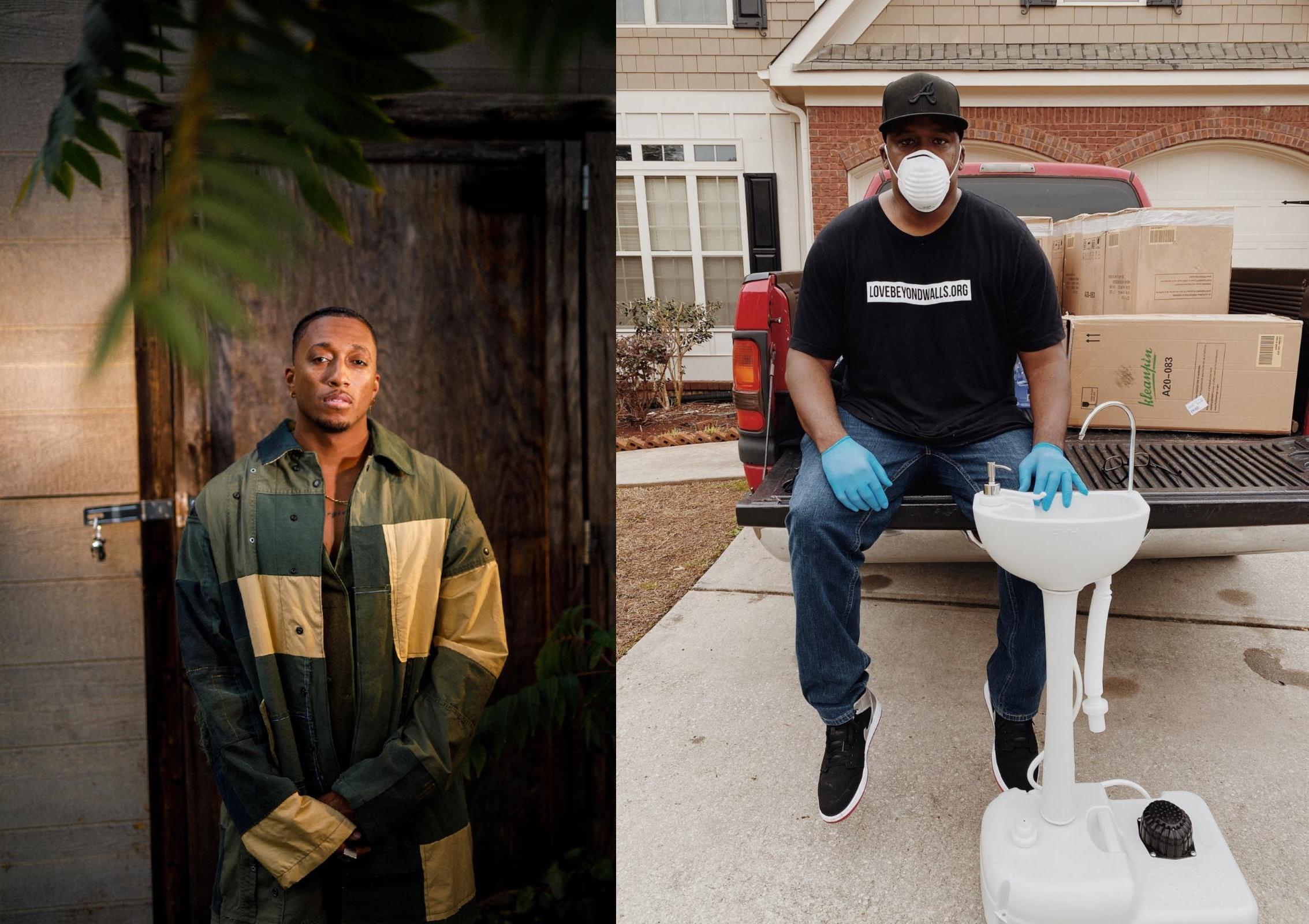 Lecrae Brings Portable Handwashing Stations to Homeless in ATL Metro Area