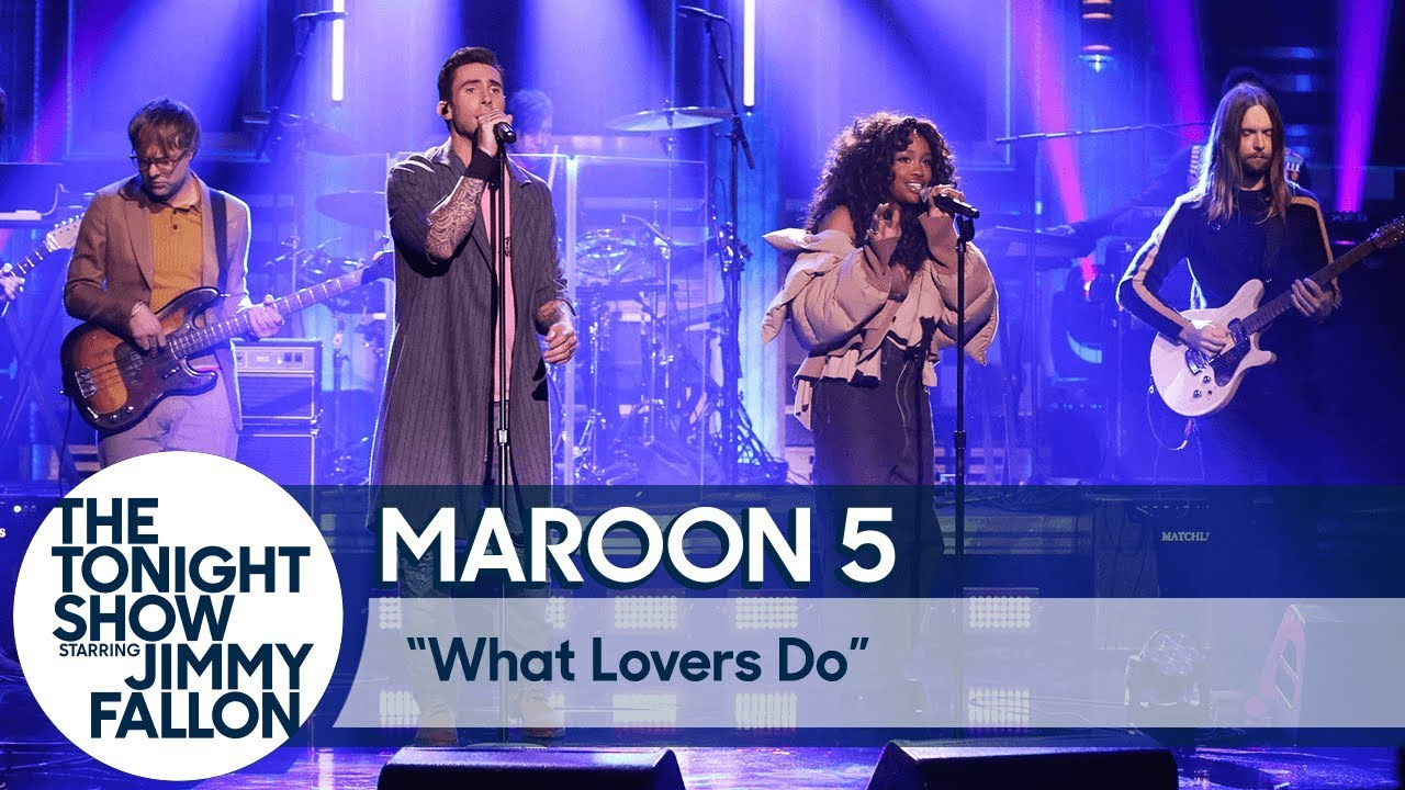 """Maroon 5 & SZA Performing """"What Lovers Do"""" Live on Fallon"""