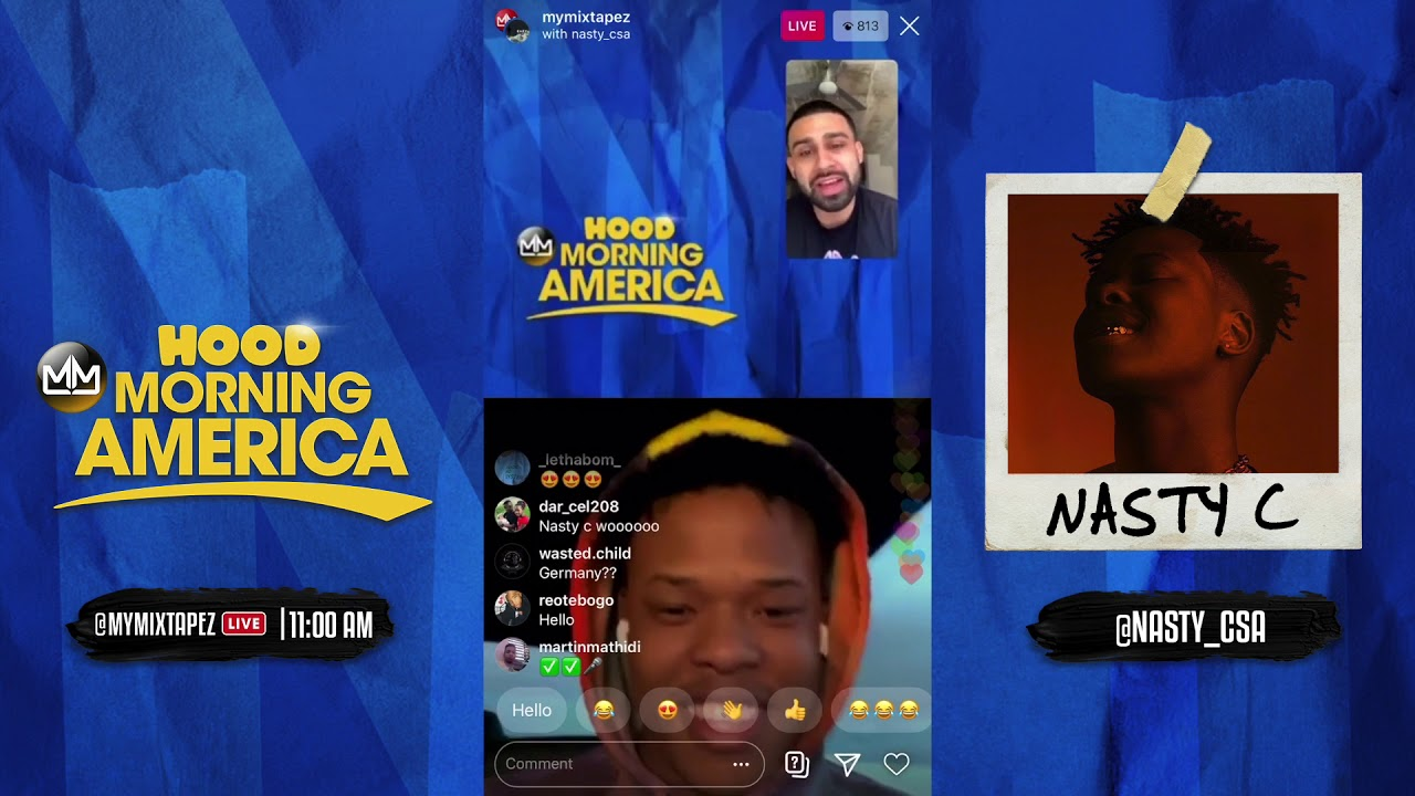 Nasty C names his top 5 artist, releasing his newest single Eazy [Hood Morning America]