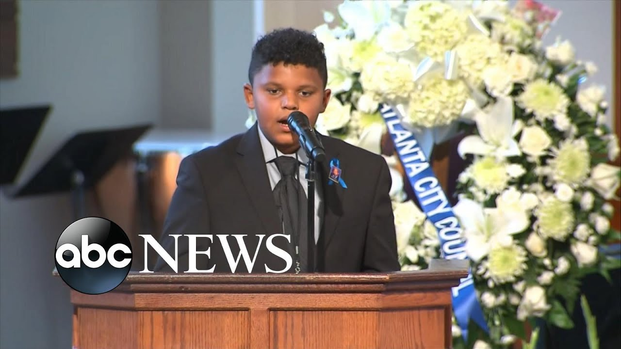 12-year-old recites poem at John Lewis' funeral   WNT