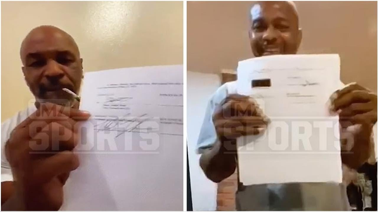 Mike Tyson Signed Roy Jones Jr. Fight Contract While Smokin' a Joint