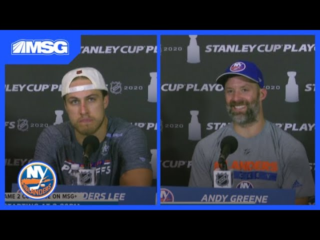 Greene, Lee, Pageau, and Varlomov Confident With Team Chemistry After Game 1 | New York Islanders