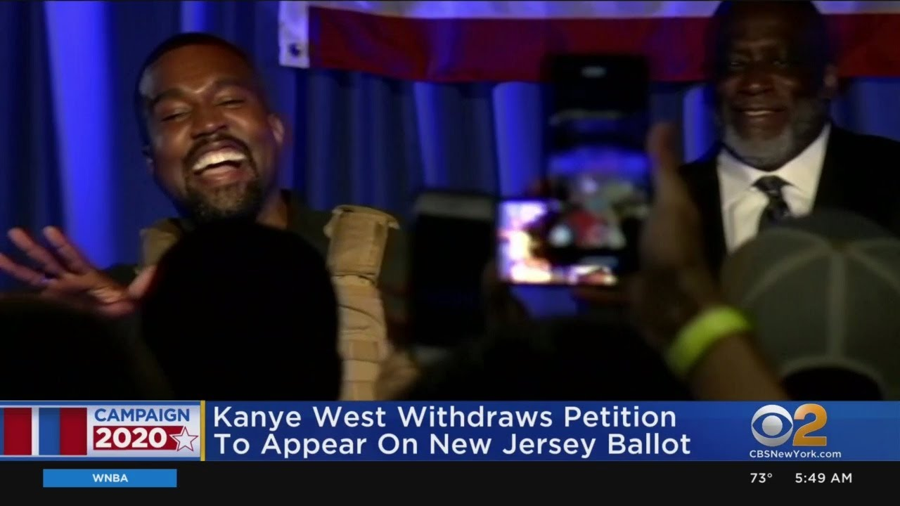 Kanye West Pulls New Jersey Ballot Petition