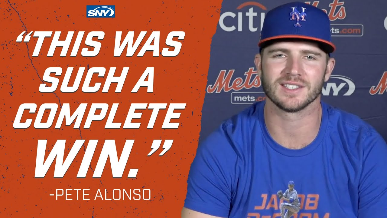 "Pete Alonso calls 11-6 victory over the Nats a ""glimpse of what's to come"" 