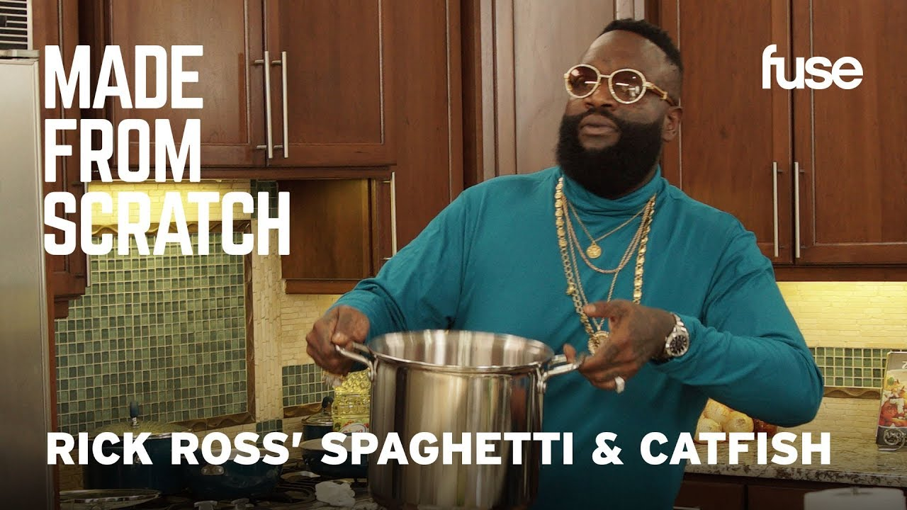 Rick Ross' Homemade Spaghetti and Catfish: How To Make It At Home | Made from Scratch | Fuse