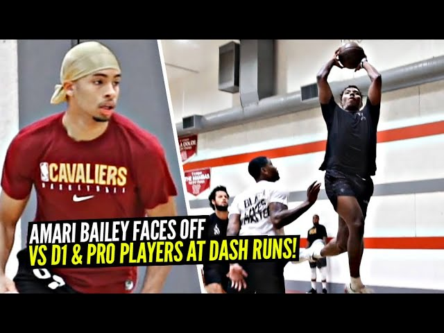 Sierra Canyon's Amari Bailey FACES OFF vs D1 & Pro Players at Private Runs & Holds His Own!