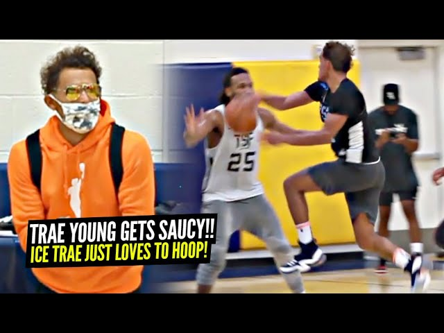 Trae Young Has HIS OWN BUBBLE!! Turns Into TRICKY TRAE at Private Open Runs!!