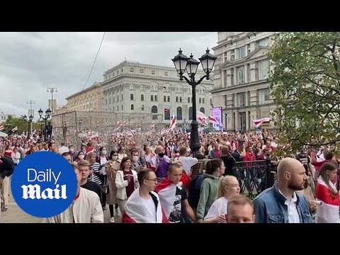 Belarus protest: Protesters defy Lukashenko to march again in Minsk