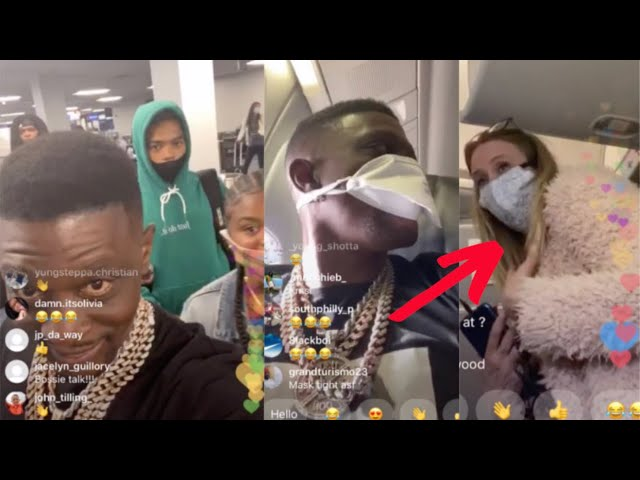 Boosie Flirts & Struggles With Face Masks On Family Vacation
