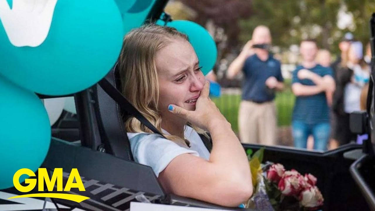 This teen had the most epic homecoming after undergoing double leg amputation l GMA