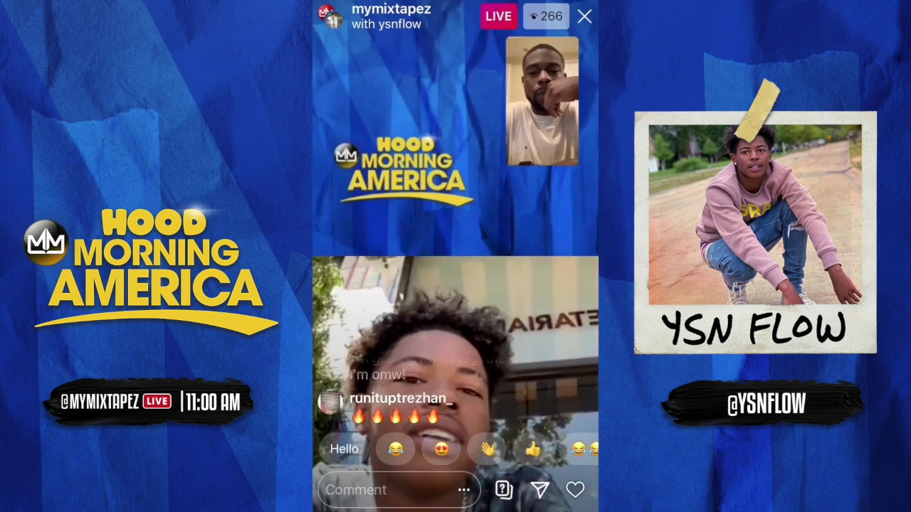 YSN Flow talks his studio essentials and his latest project Flow $ZN [Hood Morning America]