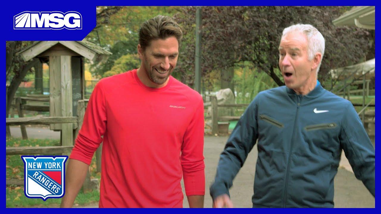 John McEnroe & Henrik Lundqvist Go Head To Head In Golf And Tennis | New York Rangers