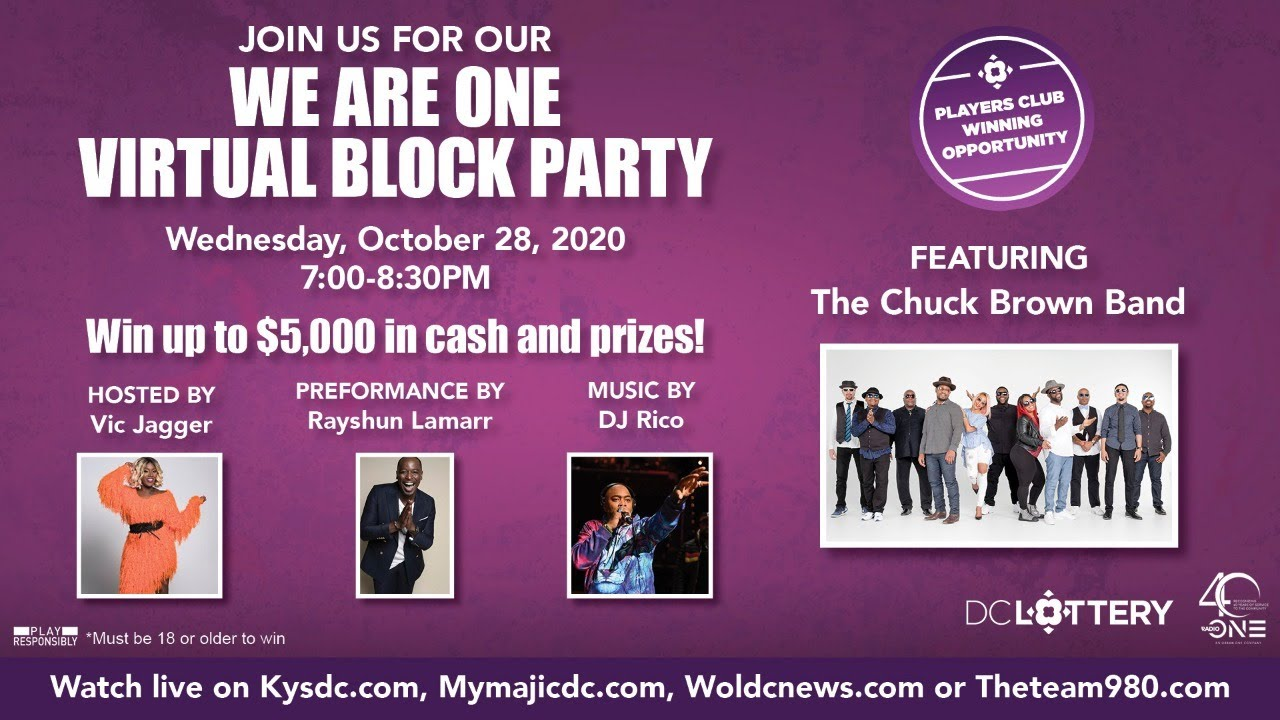 Radio One's Virtual Block Party brought to you by DC Lottery