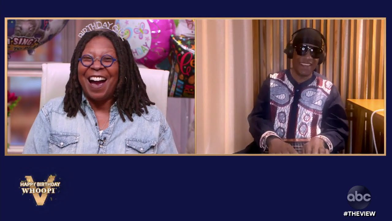 Stevie Wonder Surprises Whoopi Goldberg With the Gift of Music!   The View