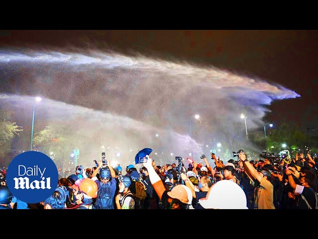 Thailand protests: Police fire water cannons at thousands of pro-democracy protesters