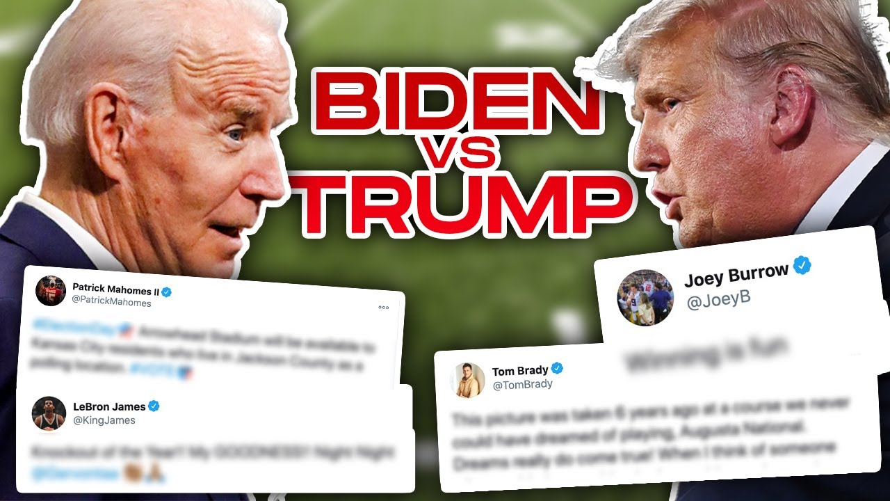 Your Favorite Athletes REVEAL Who they Voted for President (BIDEN vs. TRUMP)