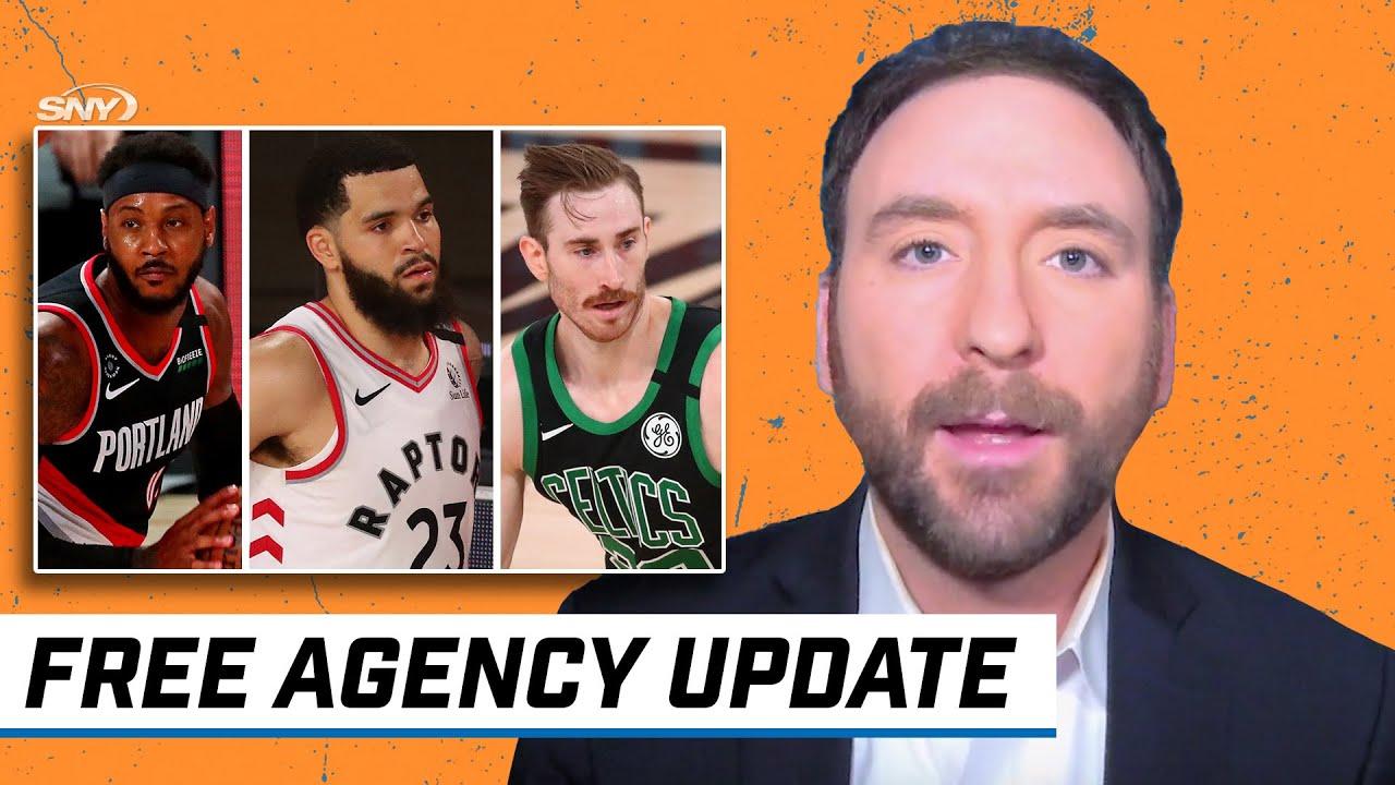 Free agency updates on Gordon Hayward, Carmelo Anthony, Elfrid Payton and Fred VanVleet | SNY