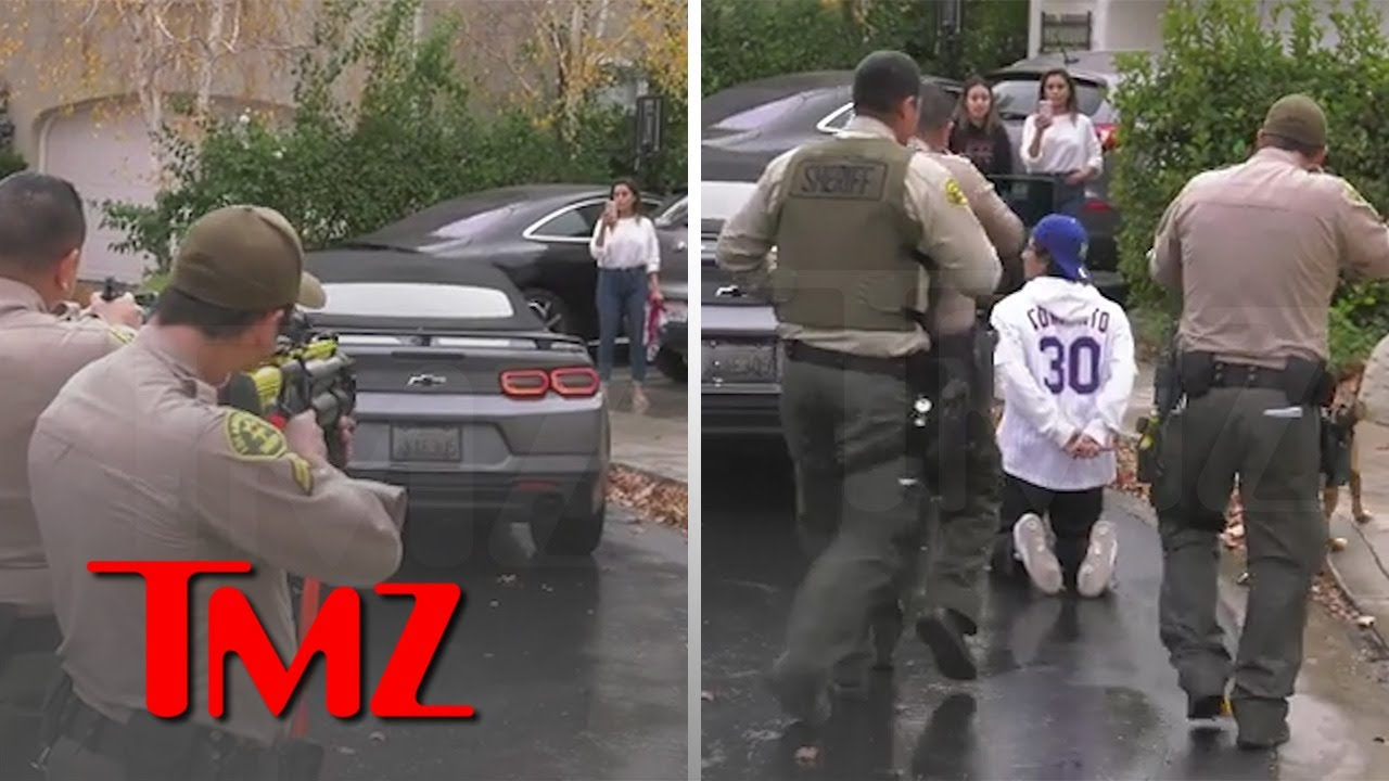 Woman Goes Off On Cops As Son Is Arrested In Wild Confrontation | TMZ