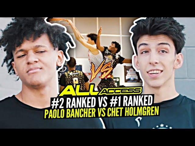 #1 Ranked Chet Holmgren vs #2 Ranked Paolo Banchero! ALL ACCESS at Pangos All American Camp!! Ep. 1