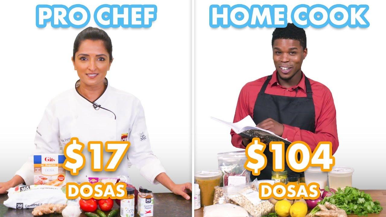 $104 vs $17 Dosas: Pro Chef & Home Cook Swap Ingredients | Epicurious